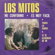 Discos de vinilo: LOS MITOS EP SELLO GAMMA HISPAVOX EDICCIÓN MEXICANA. Lote 30031409