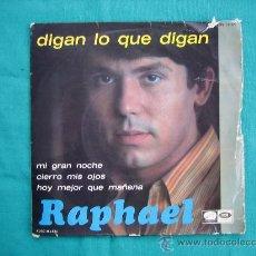 Discos de vinilo: SINGELS RAPHAEL AÑO 1967. Lote 30050983