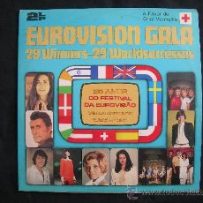Discos de vinilo: LP 25 AÑOS DE FESTIVAL DE EUROVISION -VENCEDORES DE 1956 A 1981 DOBLE DISCO - EDICION PORTUGAL. Lote 30052693