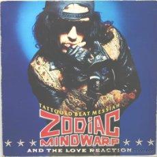 Discos de vinilo: ZODIAC MINWARP & THE LOVE REACTION TATTOOED BEAT MESSIAH LP MERCURY 1988. Lote 30059257