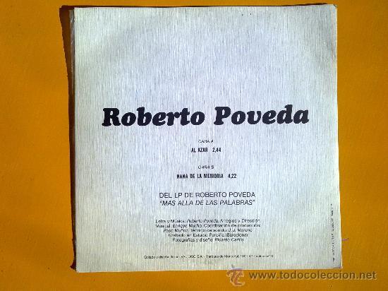 Discos de vinilo: mas alla de las palabras, roberto poveda, single como nuevo - Foto 2 - 30071429