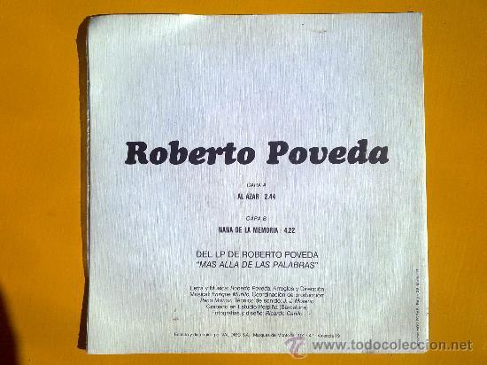 Discos de vinilo: mas alla de las palabras, roberto poveda, single como nuevo - Foto 2 - 30071454
