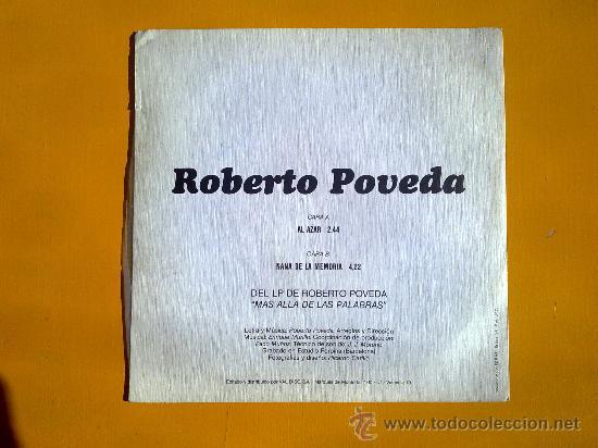 Discos de vinilo: mas alla de las palabras, roberto poveda, single como nuevo - Foto 2 - 30071474