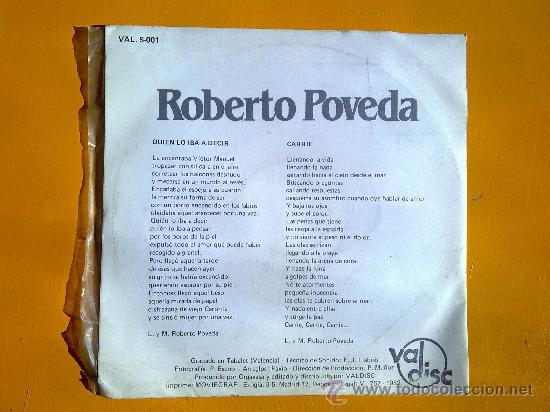 Discos de vinilo: quien lo iba a decir, roberto poveda, single como nuevo - Foto 2 - 30071518