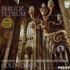 Discos de vinilo: BERLIOZ - TE DEUM - COLIN DAVIS Y THE LONDON SYMPHONIC ORCHESTRA - FRANCO TAGLIAVINI. Lote 30062666
