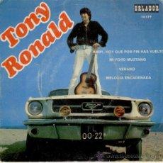Discos de vinilo: TONY RONALD - MELODIA ENCADENADA - MI FORD MUSTANG + 2 - EP ORLADOR 1968 VG++ / EX. Lote 30086234