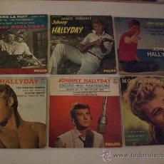 Discos de vinilo: JOHNNY HALLYDAY.- LOTE 6 EPS. 7 EDIT. FRANCIA AÑOS 60, EXCELENTE ESTADO, VER + INFORMACION OFERTA. Lote 30145843