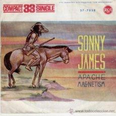 Discos de vinilo: SONNY JAMES - APACHE - MAGNETISM - SG 1961 - 33 RPM - VG+ / VG+. Lote 30149602