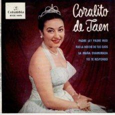Discos de vinilo: CORALITO DE JAEN - PADRE, AY PADRE MIO - LA MAÑA ENAMORA + 2 - EP 1963 - EX / EX . Lote 30150430