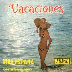 """Discos de vinilo: LOS SAYONARA + CARLITOS ROMANO - SINGLE VINILO 7"""" - EDITADO EN ESPAÑA - VACACIONES - FONAL 1973. Lote 30152165"""