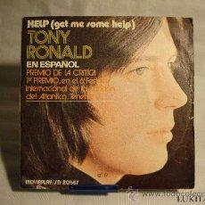 Discos de vinilo: TONY RONALD - HELP. Lote 30199198
