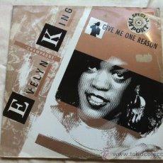 Discos de vinilo: EVELYN KING - GIVE ME ONE REASON . MAXI SINGLE . 1985 RCA RECORDS ENGLAND. Lote 30159209
