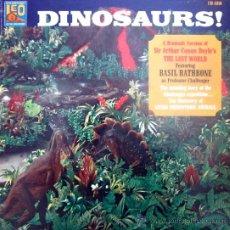 Discos de vinilo: DINOSAURS - BASIL RATHBONE (THE LOST WORLD - ARTHUR CONAN DOYLE). Lote 43218448