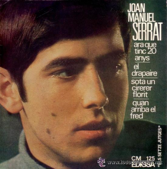 JOAN MANUEL SERRAT - ARA QUE TINC 20 ANYS / EL DRAPAIRE... - 1966 - EXCELENTE ESTADO (Música - Discos - Singles Vinilo - Cantautores Españoles)