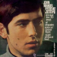 Discos de vinilo: JOAN MANUEL SERRAT - ARA QUE TINC 20 ANYS / EL DRAPAIRE... - 1966 - EXCELENTE ESTADO. Lote 31700171