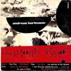 Discos de vinilo: EP ANDREAS HARTMANN HAMMOND - RITMOS. Lote 30178207