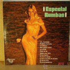 Discos de vinilo: RUDY VENTURA, DOLORES VARGAS, LOS PAQUIROS, PEPA CORAL Y MAS - ESPECIAL RUMBAS! OLYMPO L-7.020- 1976. Lote 30184187