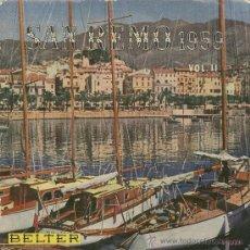 Disques de vinyle: SAN REMO 1959. IVO CARLINI. ALAN SEILOR. BELTER 1959. EP. Lote 30185091