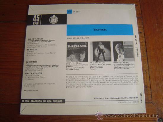 Discos de vinilo: Single Raphael. - Foto 2 - 30192543