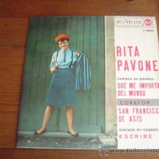 Discos de vinilo: SINGLE RITA PAVONE.. Lote 30193662