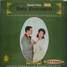 Discos de vinilo: AMADEO VIVES - DOÑA FRANCISQUITA - DOBLE ÁLBUM CARPETA ABIERTA Y LIBRETO HISPAVOX - Z1. Lote 30202788
