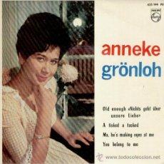 Discos de vinilo: ANNEKE GRÖNLOH - A TISKED A TASKED - YOU BELONG TO ME + 2 - EP SPAIN 1963 / EX / EX. Lote 30212400