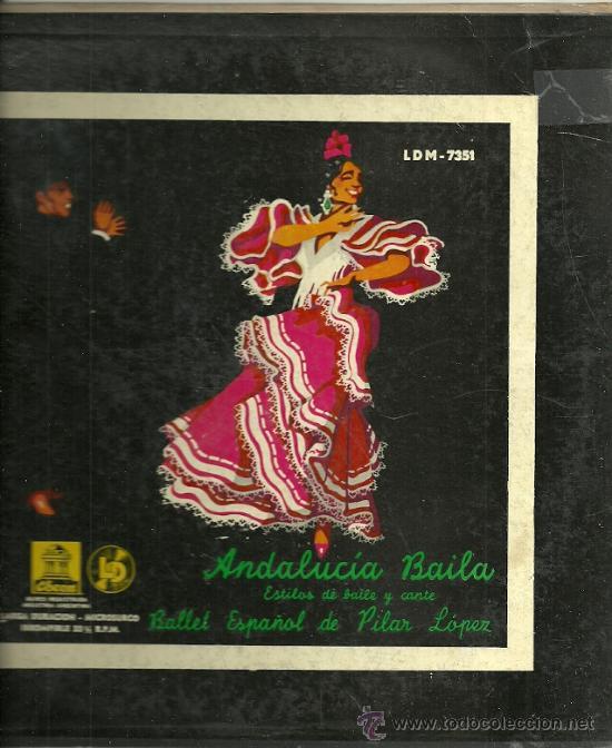 PILAR LOPEZ (BAILE) 10¨ (25 CTMS.) DEL SELLO ODEON EDITADO EN ARGENTINA. (Música - Discos - LP Vinilo - Solistas Españoles de los 50 y 60)
