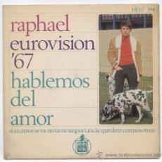 Discos de vinilo: RAPHAEL_EUROVISION '67_VINILO 7