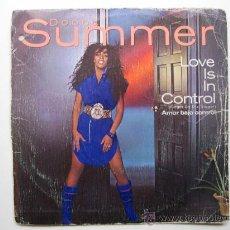 Discos de vinilo: DONNA SUMMER – LOVE IS IN CONTROL - SINGLE WARNER BROS 1982 BPY. Lote 31885753
