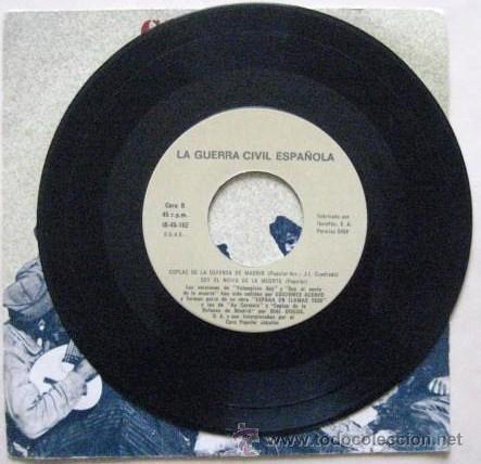 Discos de vinilo: CANCIONES DE LA GUERRA CIVIL ESPAÑOLA. SINGLE 1978..ENVIO GRATIS¡¡¡ - Foto 3 - 30244079