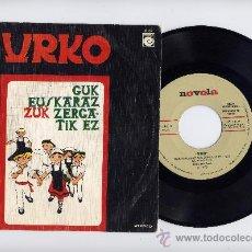 Discos de vinilo: URKO.PROMO SINGLE 45 RPM. GUK EUSKARAZ ZUK ZERGATIK EZ+IDEM. CANTANDO EN EUZKERA.AÑO 1976. Lote 30248639