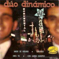 Discos de vinilo: EP DUO DINAMICO - AMOR DE VERANO - SOÑANDO - ERES TU - CON SABOR EUROPEO. Lote 30258197