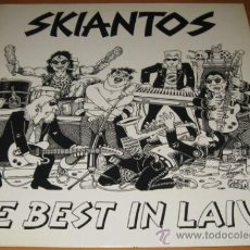 Discos de vinilo: SKIANTOS - ZE BEST IN LAW - LP - BOLLICINE 1990 ITALY BOL 1104 - LETRAS - PUNK - M B ESTADO - WANTED. Lote 30258669