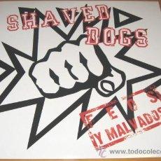 Discos de vinilo: SHAVED DOGS - FEOS Y MALVADOS - LP 25 CM PUNK - IMMORTAL 2006 SPAIN + LETRAS - COMO NUEVO. Lote 30258722