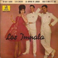 Discos de vinilo: EP-LOS IMPALA-ODEON 16511-1962-EDIC. ESPAÑOLA-. Lote 30259313