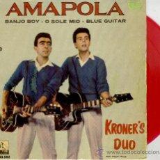 Discos de vinilo: KRONERS DUO - BANJO BOY - ITS NOW OR NEVER ( TEMA ELVIS) + 2 - EP 1961 VG+ / EX VINILO ROJO. Lote 30260852
