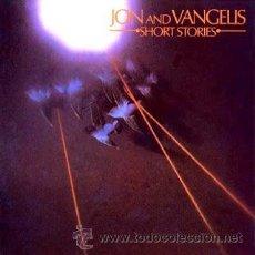 Discos de vinilo: JON & VANGELIS - SHORT STORIES - 1980 POLYDOR - CASI COMO NUEVO - CON ENCARTE CON LAS LETRAS. Lote 30261719