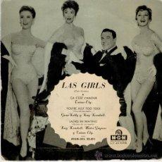 Discos de vinilo: GENE KELLY -- MITZI GAYNOR -- KAY KENDALL - TANIA ELG - LAS GIRLS - EP M.G.M. SPAIN VG+ / VG+. Lote 30274522