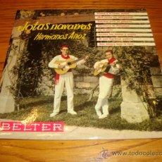 Discos de vinilo: EP JOTAS NAVARRAS HERMANOS ANOZ - BELTER (AÑO 1961). Lote 30281303