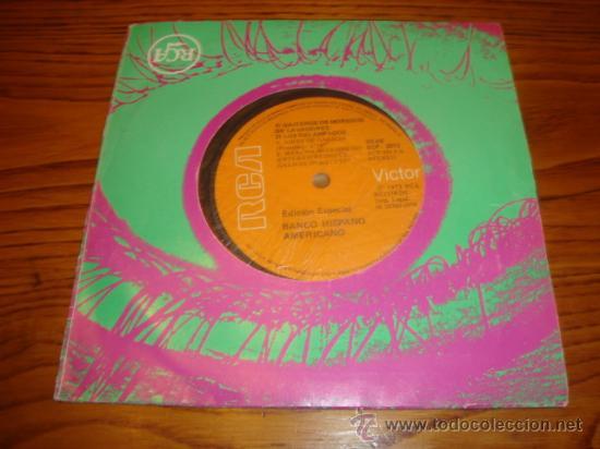 EP DE LA COMPAÑÍA DISCOGRÁFICA RCA. EDICIÓN ESPECIAL BANCO HISPANO AMERICANO (AÑO 1972) (Música - Discos de Vinilo - EPs - Otros estilos)
