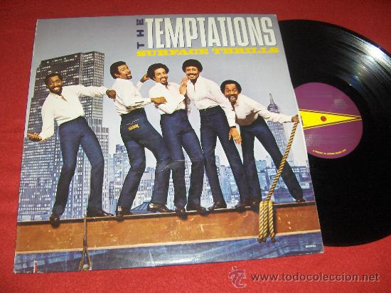 THE TEMPTATIONS SURFACE THRILLS LP 1983 GORDY USA (Música - Discos - LP Vinilo - Funk, Soul y Black Music)