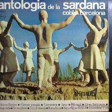 Discos de vinilo: ANTOLOGÍA DE LA SARDANA - COBLA BARCELONA - CON LIBRETO. Lote 30292535