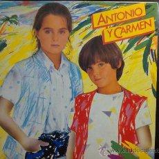 Discos de vinilo: ANTONIO Y CARMEN (HIJOS DE ROCÍO DÚRCAL) - SOPA DE AMOR - LP VINILO. Lote 30292883