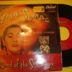 Discos de vinilo: YMA SUMAC -EP- LEGEND OF THE SUN VIRGIN - RARE SPAIN ED. Lote 30294317