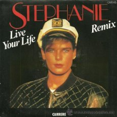Discos de vinilo: STEPHANIE SINGLE SELLO CARRERE EDITADO EN ESPAÑA AÑO 1987. Lote 201477007