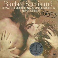 Discos de vinilo: BARBRA STREISAND SINGLE SELLO CBS EDITADO EN ESPAÑA AÑO 1977. Lote 30301228