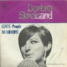 Discos de vinilo: BARBRA STREISAND SINGLE SELLO CBS EDITADO EN ESPAÑA AÑO 1970. Lote 30301258