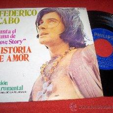 Discos de vinilo: FEDERICO CABO TEMA DE LOVE STORY/INSTRUMENTAL 7