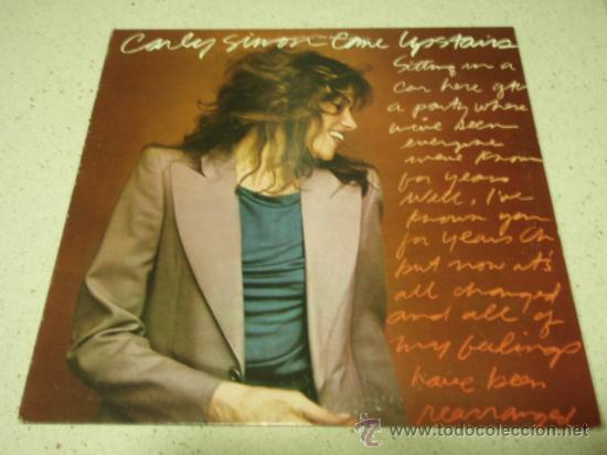 CARLY SIMON ' COME UPSTAIRS ' USA - 1980 LP33 WARNER BROS RECORDS (Música - Discos - LP Vinilo - Pop - Rock - New Wave Extranjero de los 80)