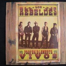 Discos de vinilo: LP DOBLE LOS REBELDES // PREFERIBLEMENTE VIVOS. Lote 30315024